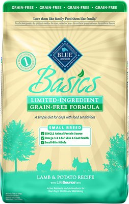 Blue Buffalo Basics Limited Ingredient Grain-Free Formula Lamb & Potato Recipe Small Breed Adult Dry Dog Food