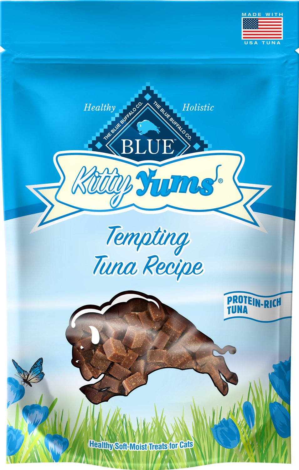 Blue Buffalo Kitty Yums Tempting Tuna Recipe Cat Treats, 2-oz bag