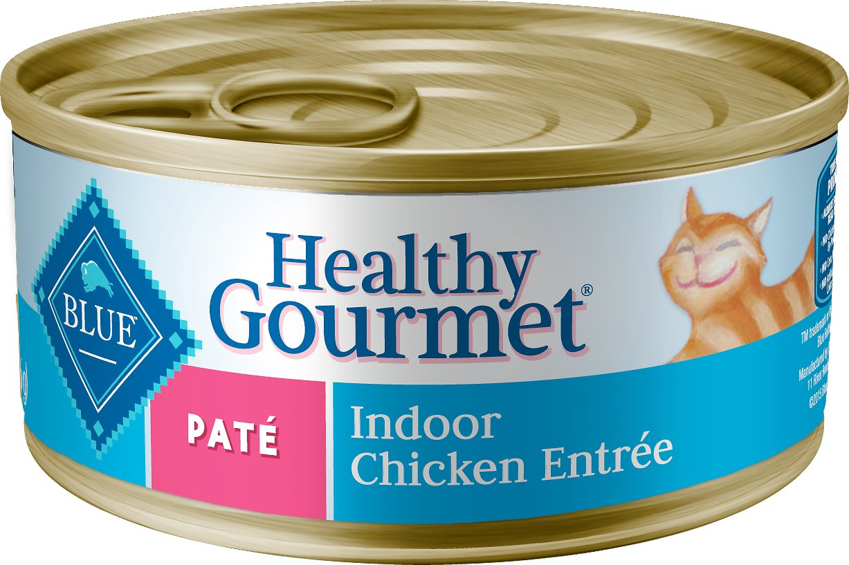 Blue Buffalo Healthy Gourmet Pate Chicken Entree Indoor Adult Canned Cat Food, 5.5-oz