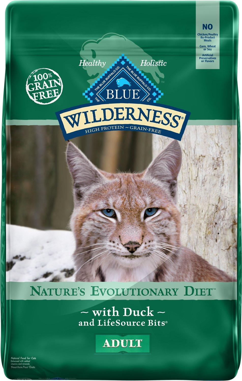 Blue Buffalo Wilderness Duck Recipe Grain-Free Dry Cat Food Image