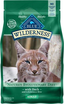 Blue Buffalo Wilderness Duck Recipe Grain-Free Dry Cat Food, 2-lb bag