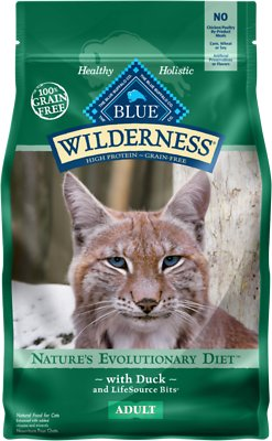 Blue Buffalo Wilderness Duck Recipe Grain-Free Dry Cat Food, 5-lb bag