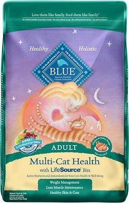 Blue Buffalo Multi-Cat Health Chicken & Turkey Recipe Adult Dry Cat Food, 15-lb bag