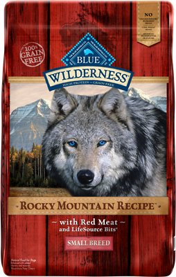 Blue Buffalo Wilderness Rocky Mountain Recipe with Red Meat Small Breed Grain-Free Dry Dog Food, 10-lb bag