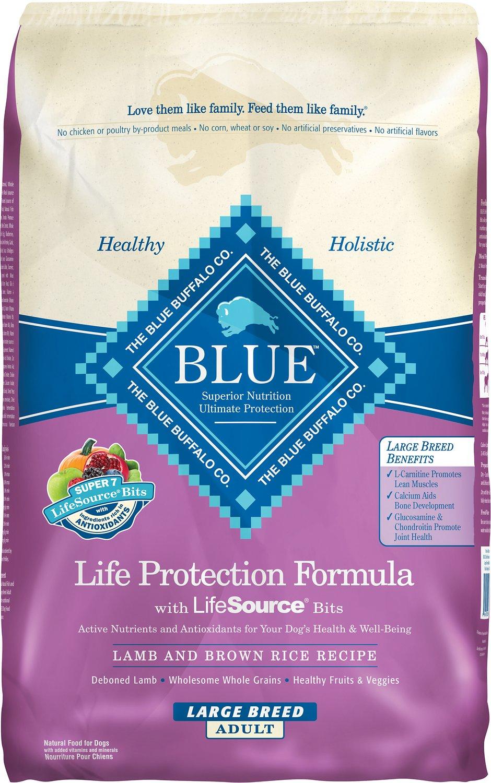 Blue Buffalo Life Protection Formula Large Breed Adult Lamb & Brown Rice Recipe Dry Dog Food, 30-lb bag