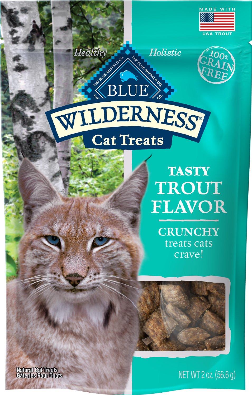 Blue Buffalo Wilderness Trout Formula Crunchy Grain-Free Cat Treats, 2-oz bag