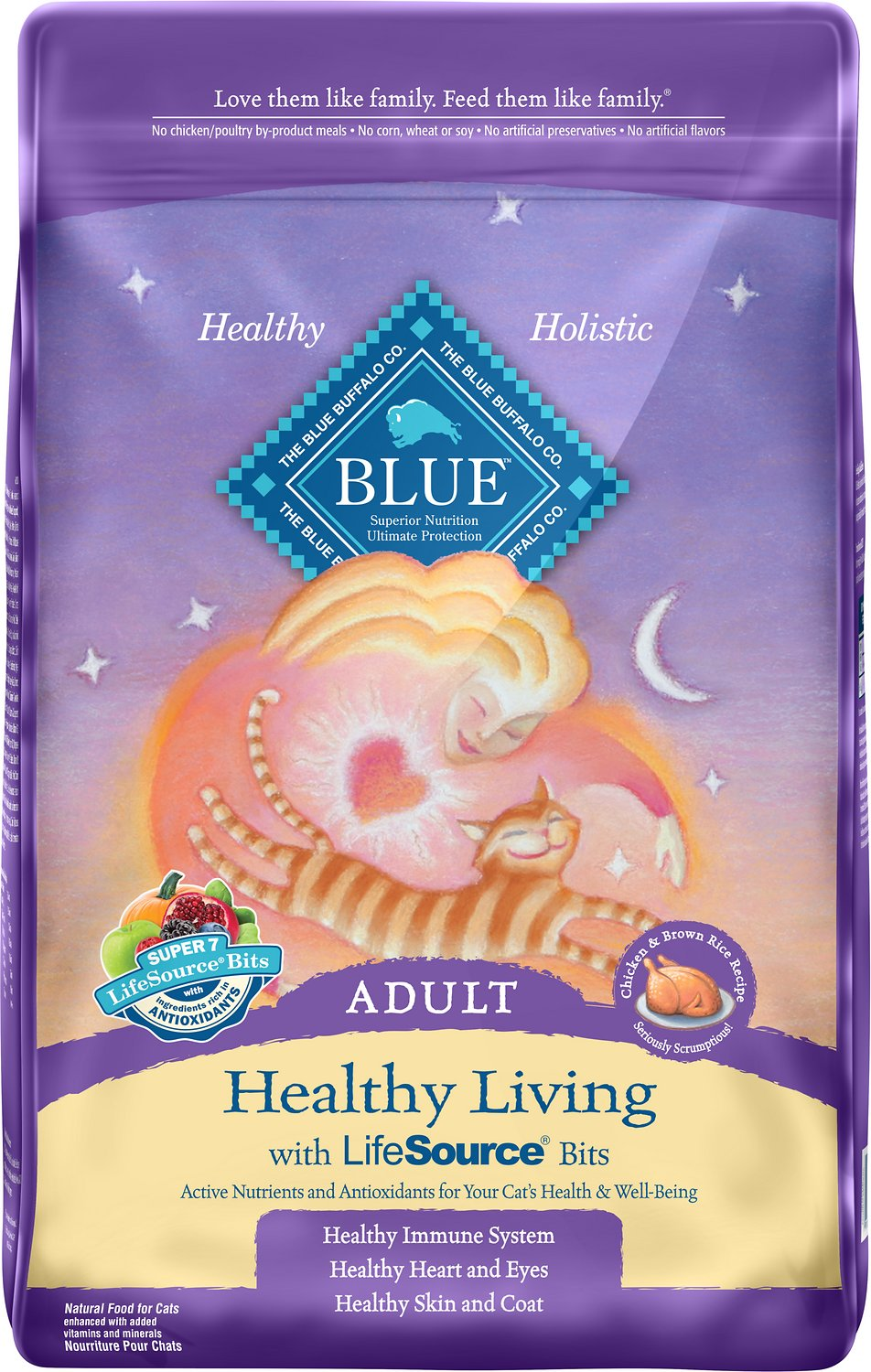 Blue Buffalo Healthy Living Chicken & Brown Rice Recipe Adult Dry Cat Food Image