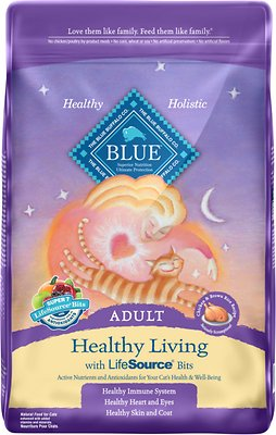 Blue Buffalo Healthy Living Chicken & Brown Rice Recipe Adult Dry Cat Food