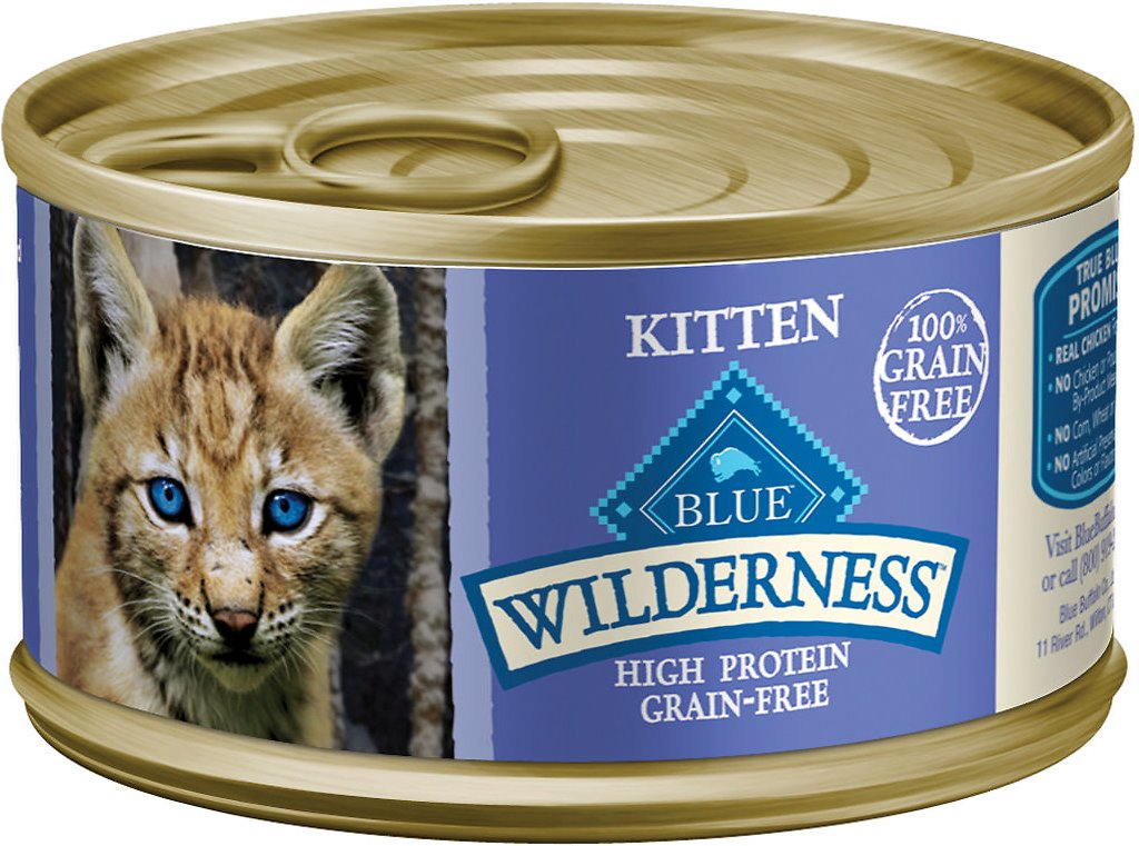 Blue Buffalo Wilderness Kitten Chicken Grain-Free Canned Cat Food, 3-oz