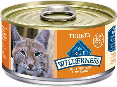 Blue Buffalo Wilderness Turkey Grain-Free Canned Cat Food, 3-oz, case of 24