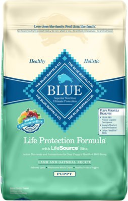 Blue Buffalo Life Protection Formula Puppy Lamb & Oatmeal Recipe Dry Dog Food, 30-lb bag
