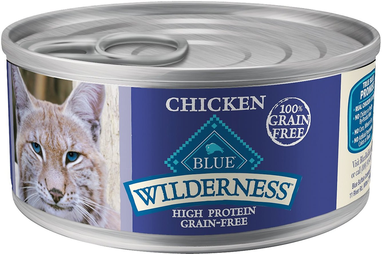 Blue Buffalo Wilderness Chicken Grain-Free Canned Cat Food, 5.5-oz