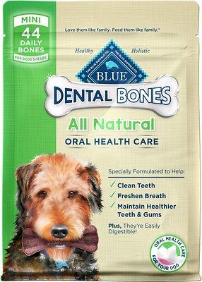 Blue Buffalo Dental Bones All Natural Mini Dog Treats, 12-oz bag