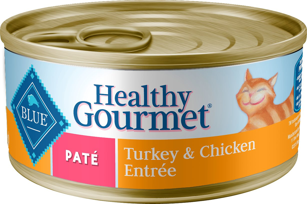 Blue Buffalo Healthy Gourmet Pate Turkey & Chicken Entree Adult Canned Cat Food, 3-oz