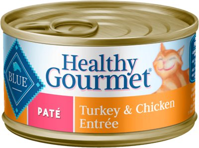 Blue Buffalo Healthy Gourmet Pate Turkey & Chicken Entree Adult Canned Cat Food, 3-oz, case of 24