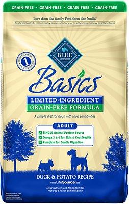 Blue Buffalo Basics Limited Ingredient Grain-Free Formula Duck & Potato Recipe Adult Dry Dog Food