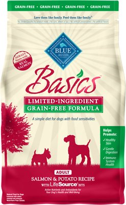 Blue Buffalo Basics Limited Ingredient Grain-Free Formula Salmon & Potato Recipe Adult Dry Dog Food
