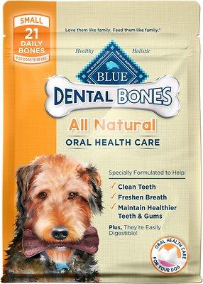 Blue Buffalo Dental Bones All Natural Small Dog Treats, 12-oz bag