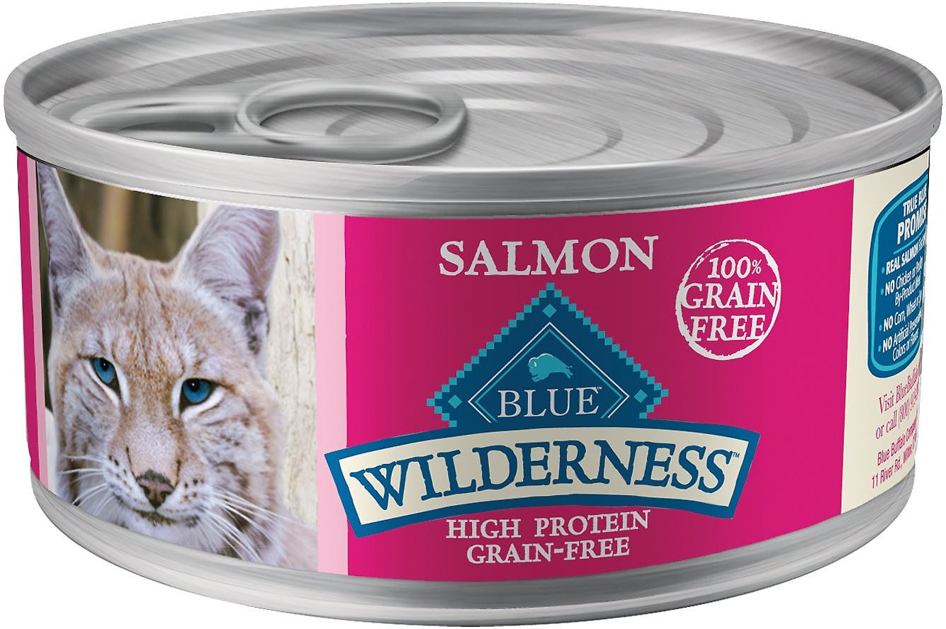 Blue Buffalo Wilderness Salmon Grain-Free Canned Cat Food, 5.5-oz