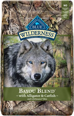 Blue Buffalo Wilderness Bayou Blend with Alligator & Catfish Grain-Free Dry Dog Food, 22-lb bag