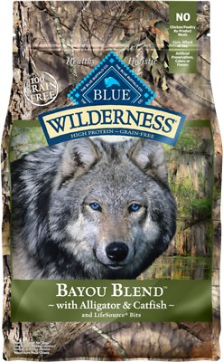 Blue Buffalo Wilderness Bayou Blend with Alligator & Catfish Grain-Free Dry Dog Food, 4-lb bag