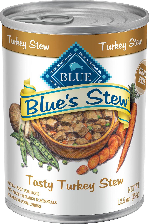 Blue Buffalo Blue's Tasty Turkey Stew Grain Free Canned Dog Food, 12.5-oz