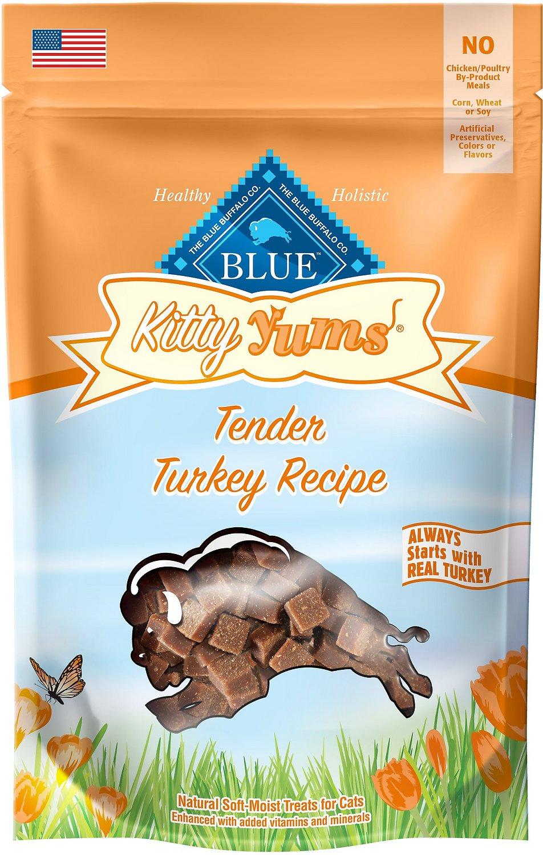 Blue Buffalo Kitty Yums Tender Turkey Recipe Cat Treats, 2-oz bag