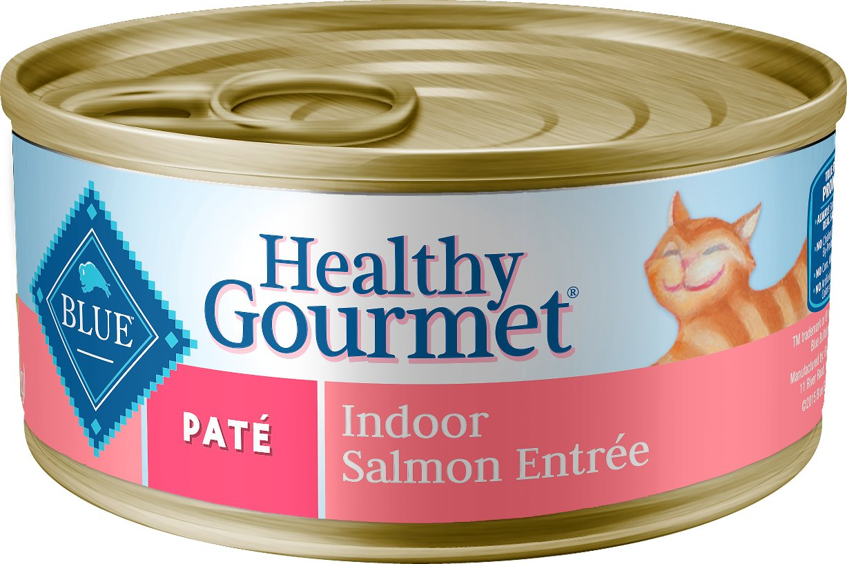 Blue Buffalo Healthy Gourmet Pate Salmon Entree Indoor Adult Canned Cat Food, 3-oz