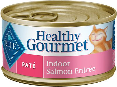 Blue Buffalo Healthy Gourmet Pate Salmon Entree Indoor Adult Canned Cat Food, 3-oz, case of 24