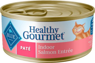 Blue Buffalo Healthy Gourmet Pate Salmon Entree Indoor Adult Canned Cat Food, 5.5-oz, case of 24