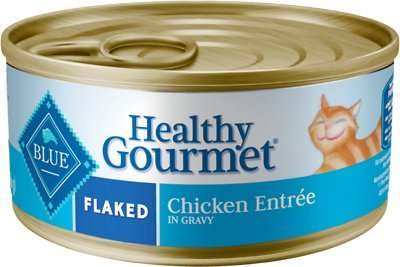 Blue Buffalo Healthy Gourmet Flaked Chicken Entree in Gravy Canned Cat Food, 5.5-oz, case of 24