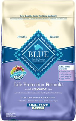 Blue Buffalo Life Protection Formula Small Breed Adult Fish & Brown Rice Recipe Dry Dog Food, 15-lb bag