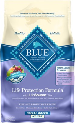 Blue Buffalo Life Protection Formula Small Breed Adult Fish & Brown Rice Recipe Dry Dog Food, 6-lb bag