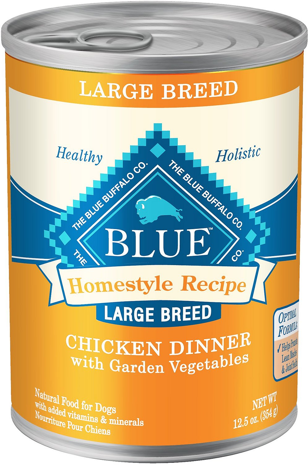 Blue Buffalo Homestyle Recipe Large Breed Chicken Dinner with Garden Vegetables Canned Dog Food, 12.5-oz