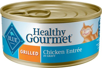 Blue Buffalo Healthy Gourmet Grilled Chicken Entree in Gravy Canned Cat Food, 5.5-oz, case of 24