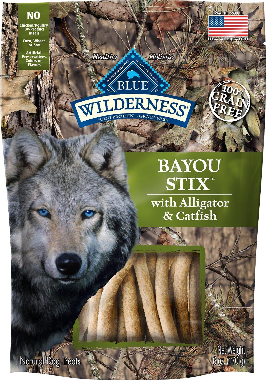 Blue Buffalo Wilderness Bayou Stix Alligator & Catfish Grain-Free Dog Treats, 6-oz bag