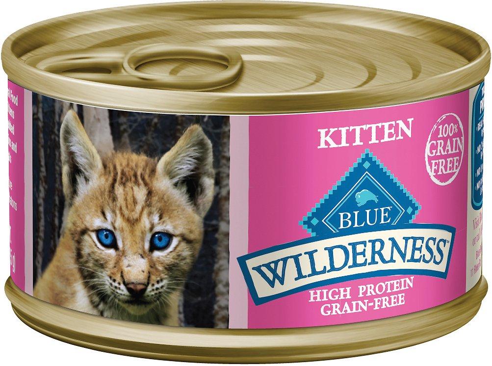 Blue Buffalo Wilderness Kitten Salmon Grain-Free Canned Cat Food, 3-oz