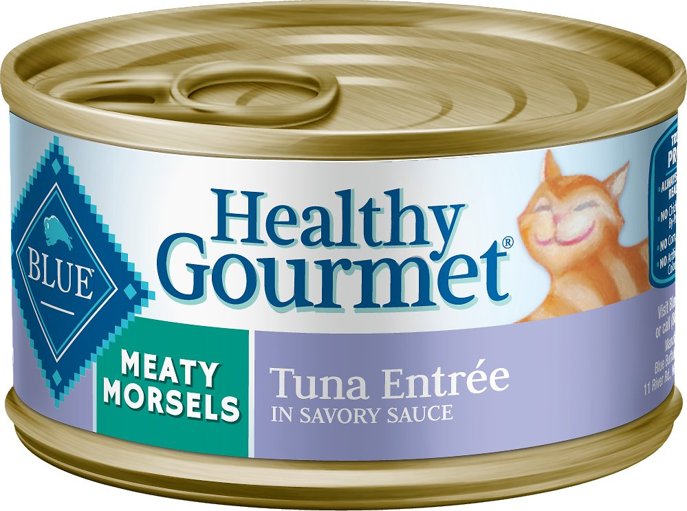 Blue Buffalo Healthy Gourmet Meaty Morsels Tuna Entree Canned Cat Food, 3-oz Size: 3-oz