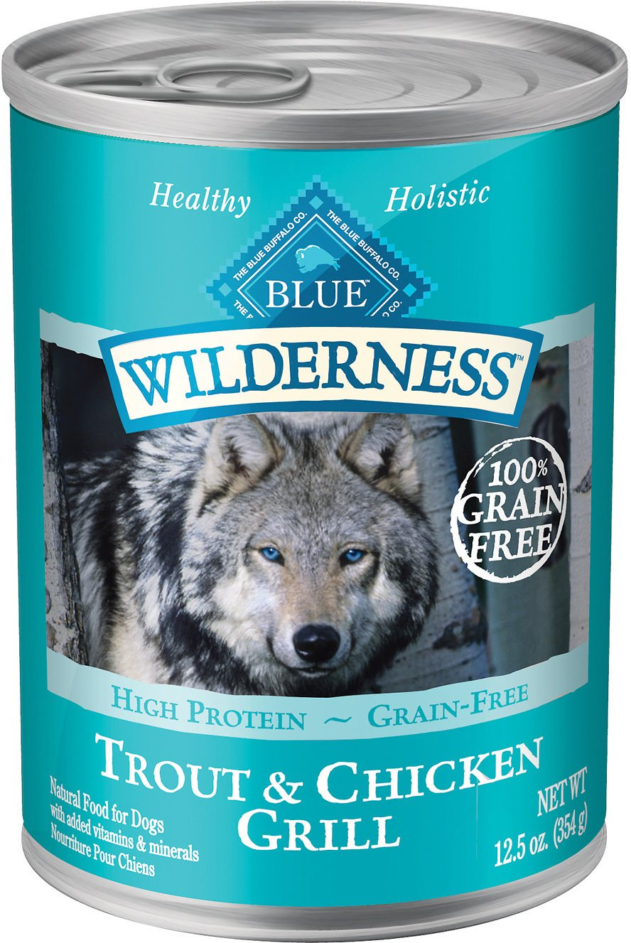 Blue Buffalo Wilderness Trout & Chicken Grill Grain-Free Canned Dog Food, 12.5-oz