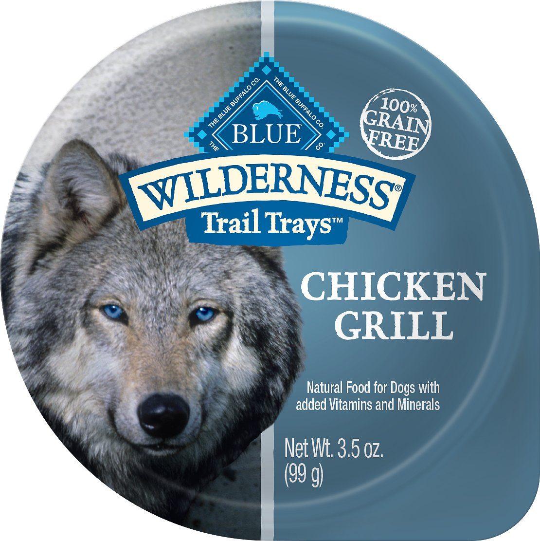 Blue Buffalo Wilderness Trail Trays Chicken Grill Formula Grain-Free Dog Food Trays, 3.5-oz, case of 12
