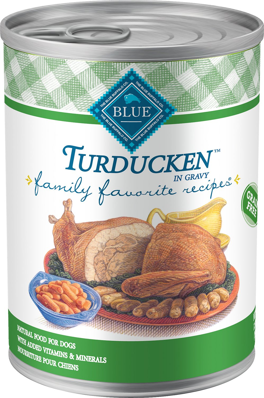 Blue Buffalo Family Favorite Grain-Free Recipes Turducken Canned Dog Food, 12.5-oz, case of 12