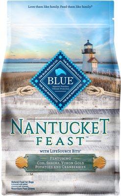 Blue Buffalo Nantucket Feast Cod, Shrimp, Yukon Gold Potatoes & Cranberries Dry Dog Food, 4-lb bag