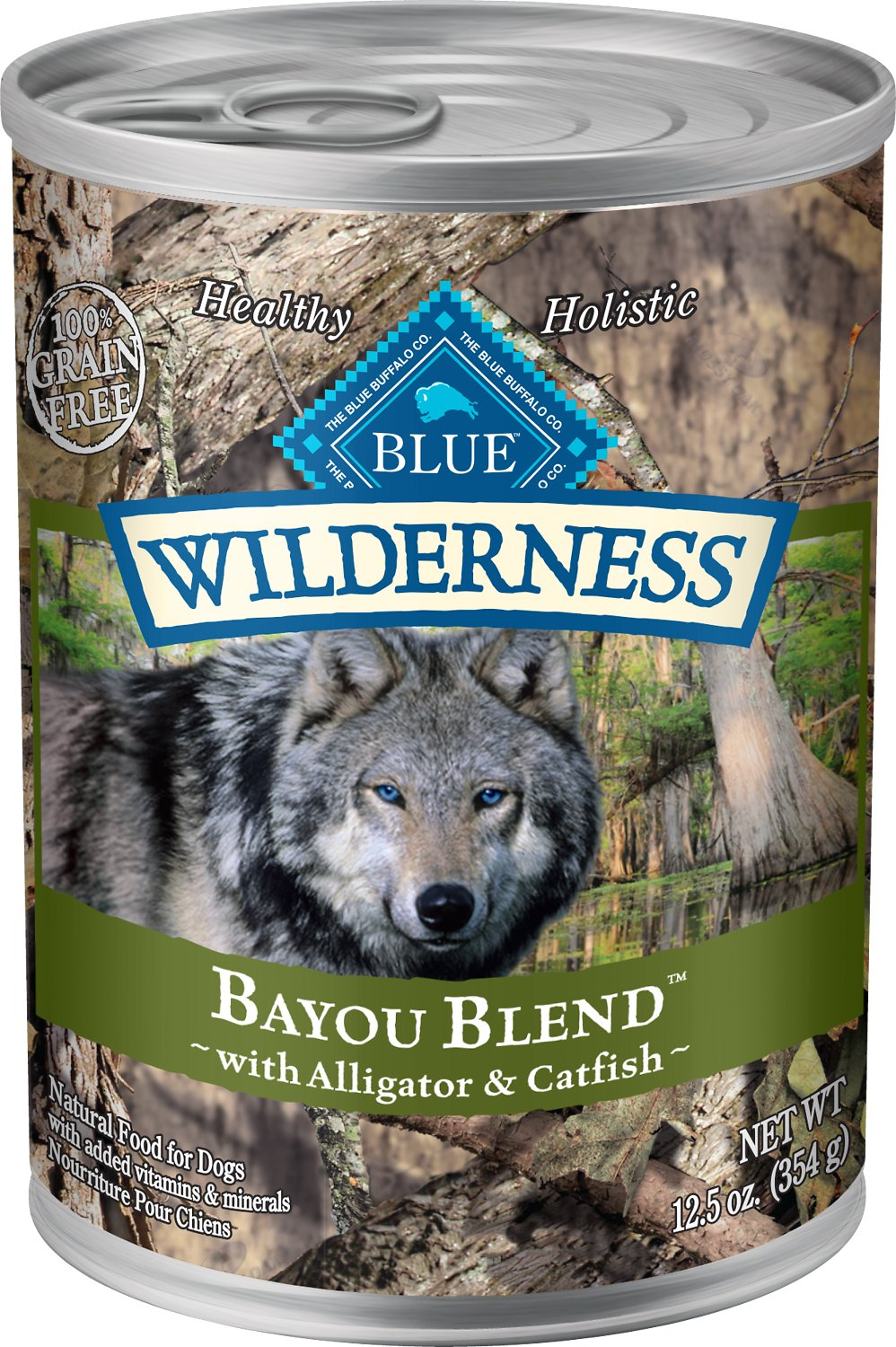 Blue Buffalo Wilderness Bayou Blend with Alligator & Catfish Grain-Free Canned Dog Food, 12.5-oz