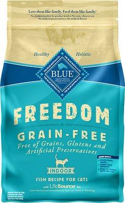 Blue Buffalo Freedom Indoor Adult Fish Recipe Grain-Free Dry Cat Food