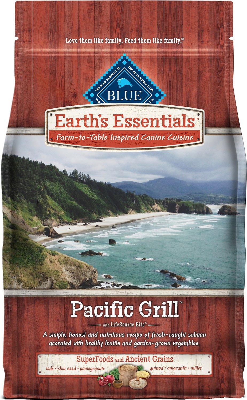 Blue Buffalo Earth's Essentials Pacific Grill Salmon & Lentil Ancient Grains Recipe Dry Dog Food, 4-lb bag