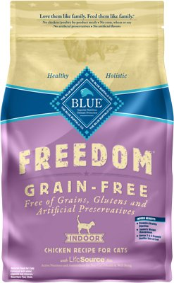 Blue Buffalo Freedom Indoor Adult Chicken Recipe Grain-Free Dry Cat Food, 5-lb bag