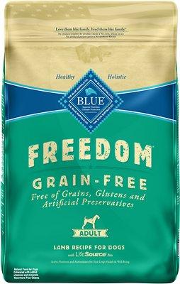 Blue Buffalo Freedom Adult Lamb Recipe Grain-Free Dry Dog Food, 24-lb bag