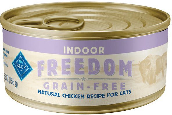 Blue Buffalo Freedom Indoor Adult Chicken Recipe Grain-Free Canned Cat Food, 5.5-oz