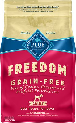 Blue Buffalo Freedom Adult Beef Recipe Grain-Free Dry Dog Food, 4-lb bag