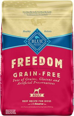 Blue Buffalo Freedom Adult Beef Recipe Grain-Free Dry Dog Food, 11-lb bag